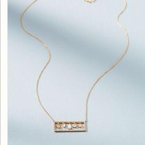 ANTHROPOLOGIE ❤️ Dazzling Frame Gold Tone Necklace